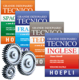 Package 4 Hoepli technical dictionaries - downloadable version + online version