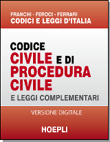 Codice civile e di procedura civile HOEPLI - downloadable version + online version